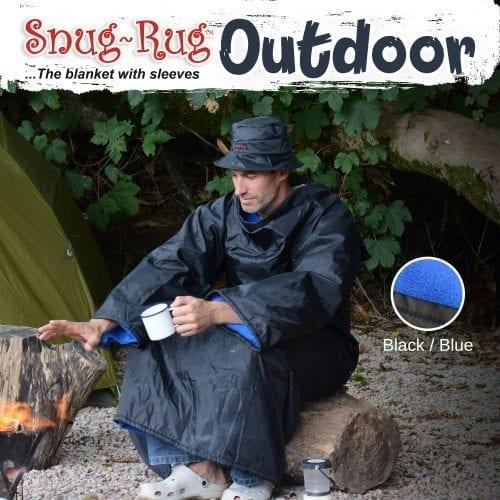 Snug-Rug deka za van s kapom-plava