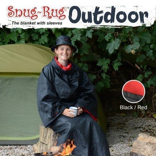 Snug-Rug deka za van s kapom-crvena