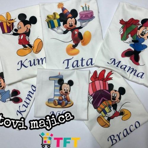 Majice s tiskom-kompleti od 5 komada