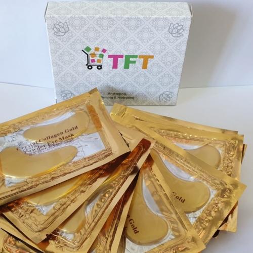 Anti-aging jastučići za lice s nano zlatom- 10 pari