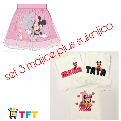 Set 3 majice plus suknjica