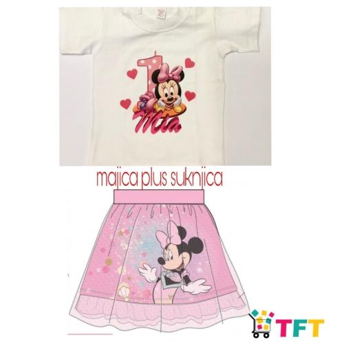 Majica s tiskom plus suknjica