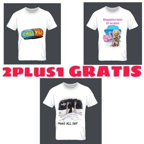 Majice s tiskom 2plus1 GRATIS